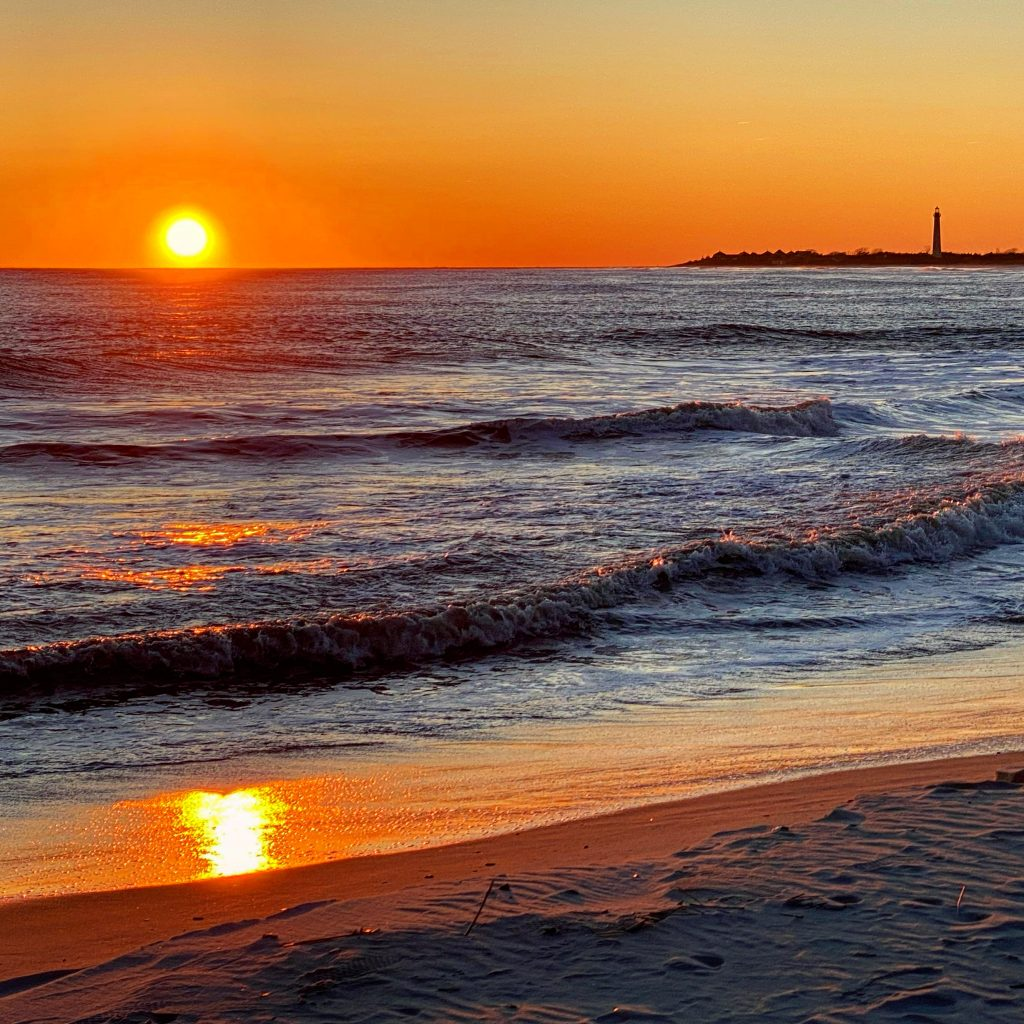Cape May Beach Sunset