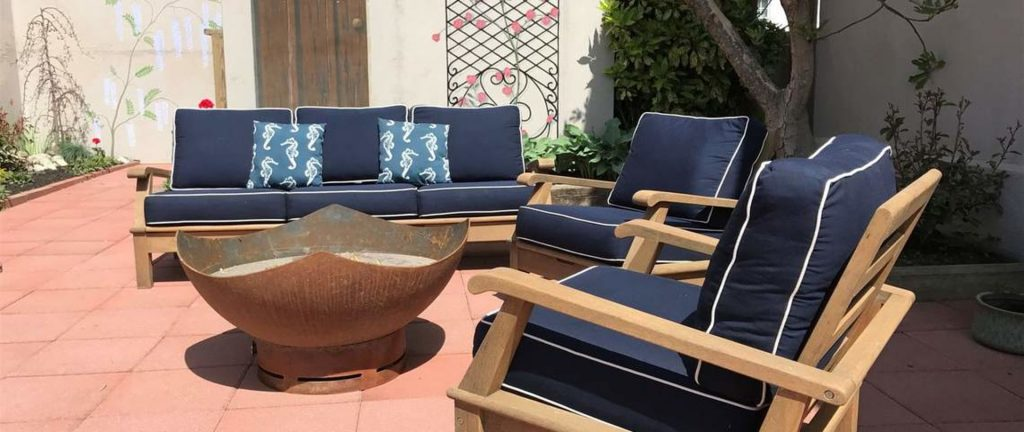 Outdoor Common Spaces - Back Patio Seating and Firepit