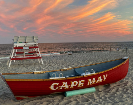 Cape May Beach at Sunset